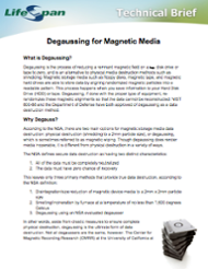 Degaussing for Magnetic Media